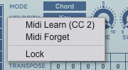 Midi learning the time parameter
