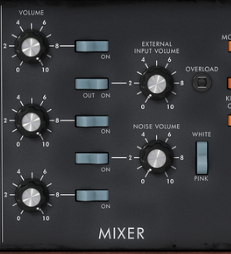 Minimoog Mixer Section