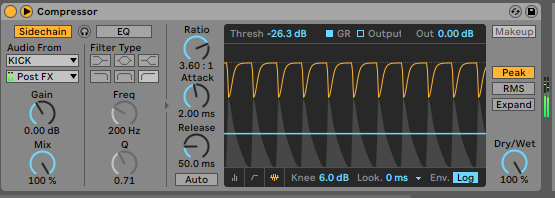 Sidechaining the bass to the kick
